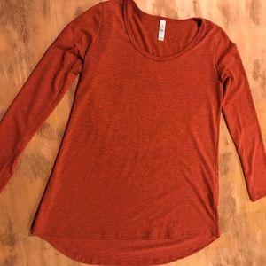 LuLaRoe burnt orange Lynnae xs
